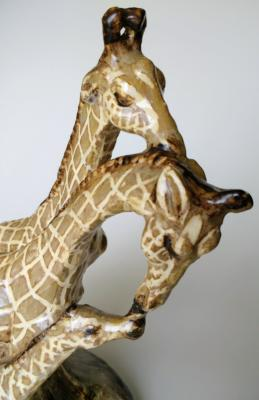 Stella Crofts. Giraffe family close up